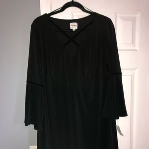 Black and velour empire waist peasant dress